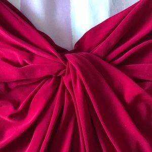 Wine Red Ralph Lauren Formal Gown